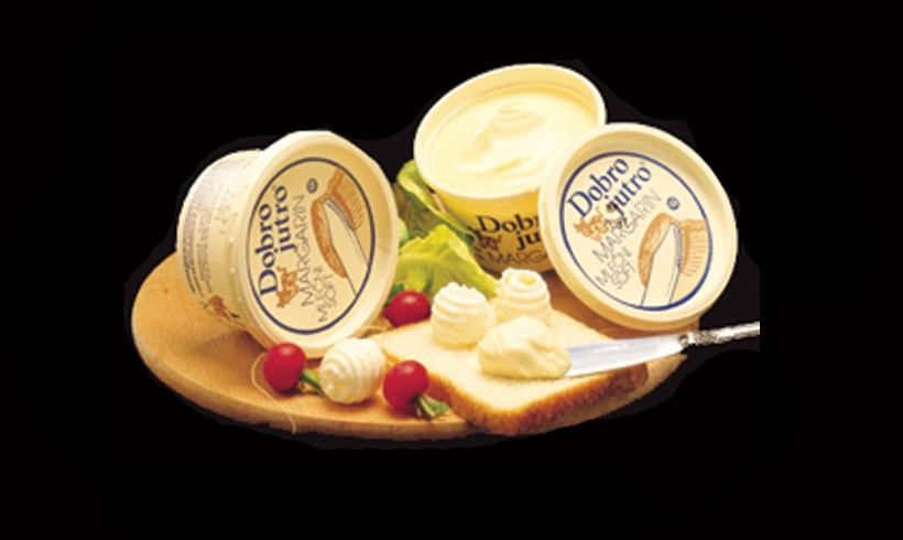 "The production of margarine ""Dobro Jutro"" began in association with Kolinska"