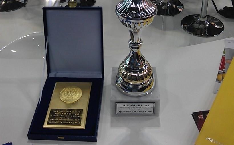Dijamant dobitnik nagrade na Novosadskom sajmu