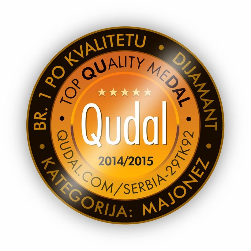 Qudal gold medal for Dijamant mayonnaise