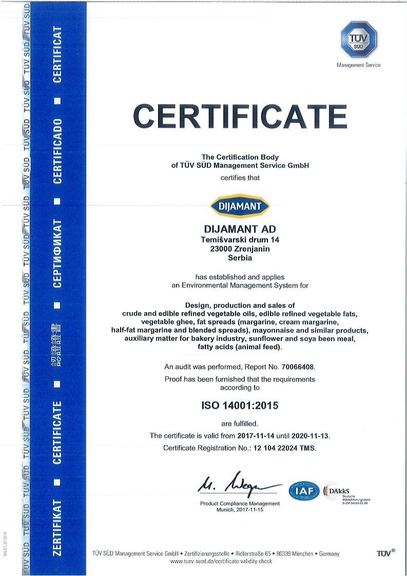 ISO 14001 engleski 2018