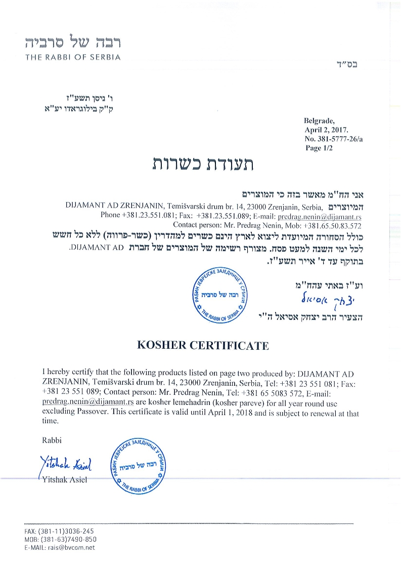 Kosher sertifikar