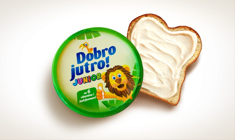 Dobro Jutro Junior Margarine, HALAL, New foot warehouse