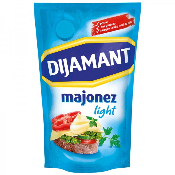 Dijamant,Majonez,Light,285ml,posno,bez glutena