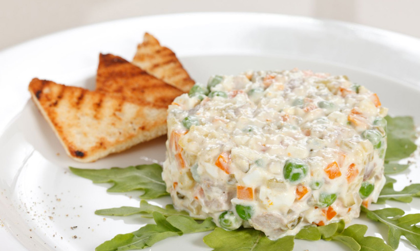 Recept Posna ruska salata