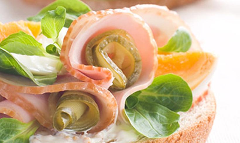 Garlic sendvič