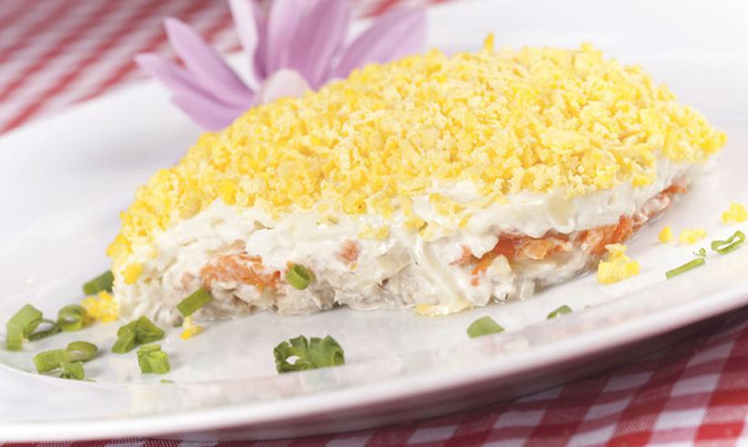Recept salata Mimoza