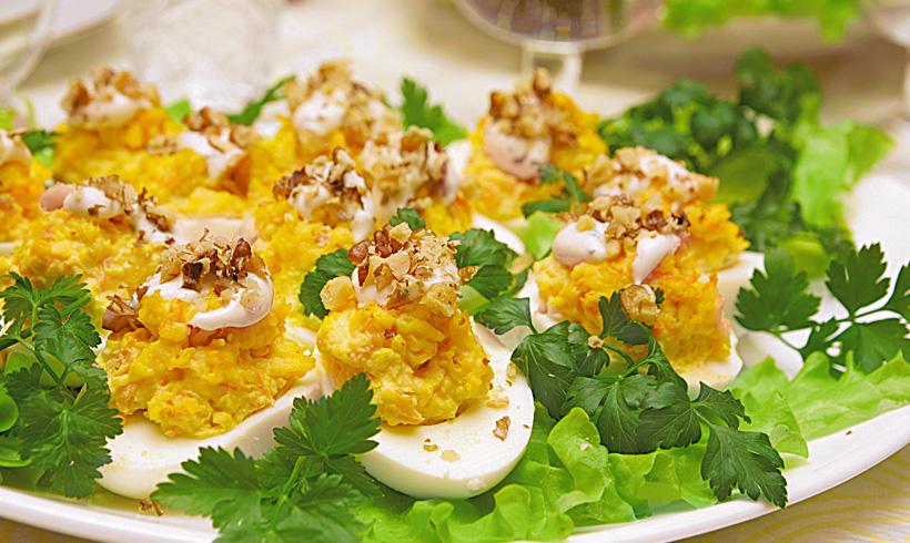 Recept Punjena jaja sa nadevom od pančete
