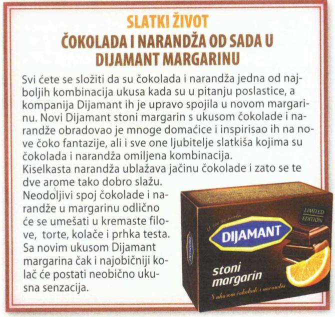 Cica: Slatki Život Čokolada Narandža