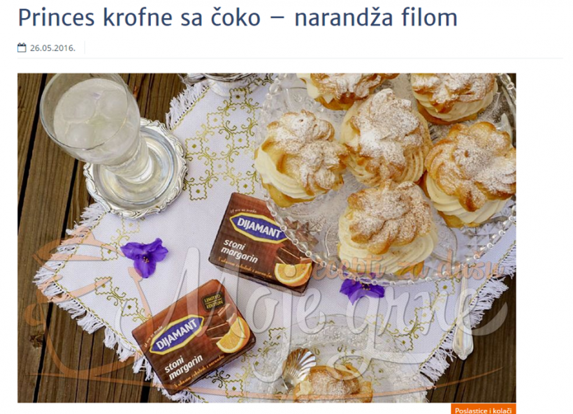 Moje Grne: Slatki Život Čokolada Narandža Princes Krofne