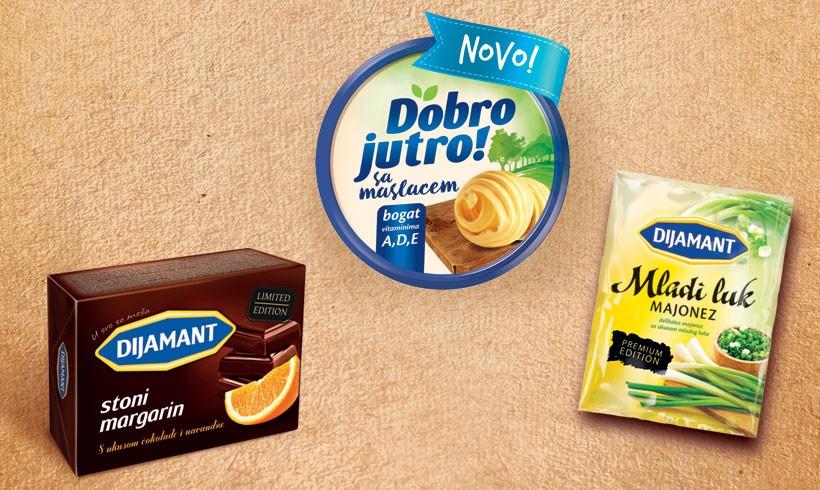 Lansirana tri nova proizvoda – Dobro jutro sa maslacem, Stoni margarin s ukusom čokolade i narandže, Majonez mladi luk