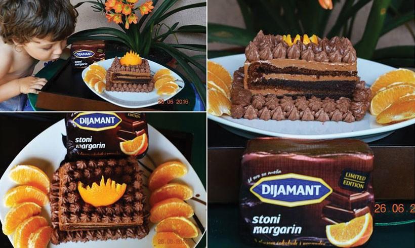 Čokoladni kolač sa čoko narandža margarinom