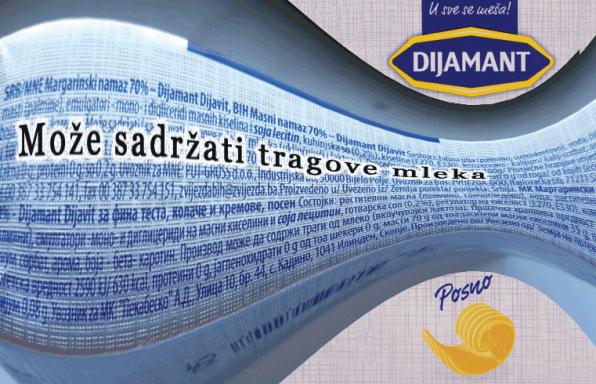 Može sadržati tragove mleka,margarin,