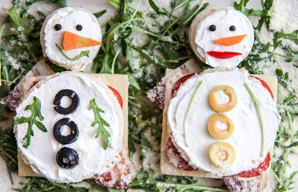 Sneška za smeška – zimski sendvič