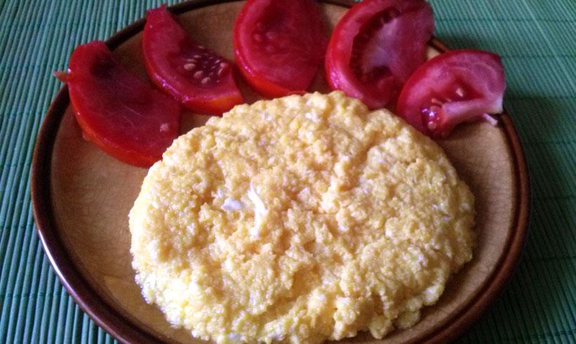Prženi sir i jaja