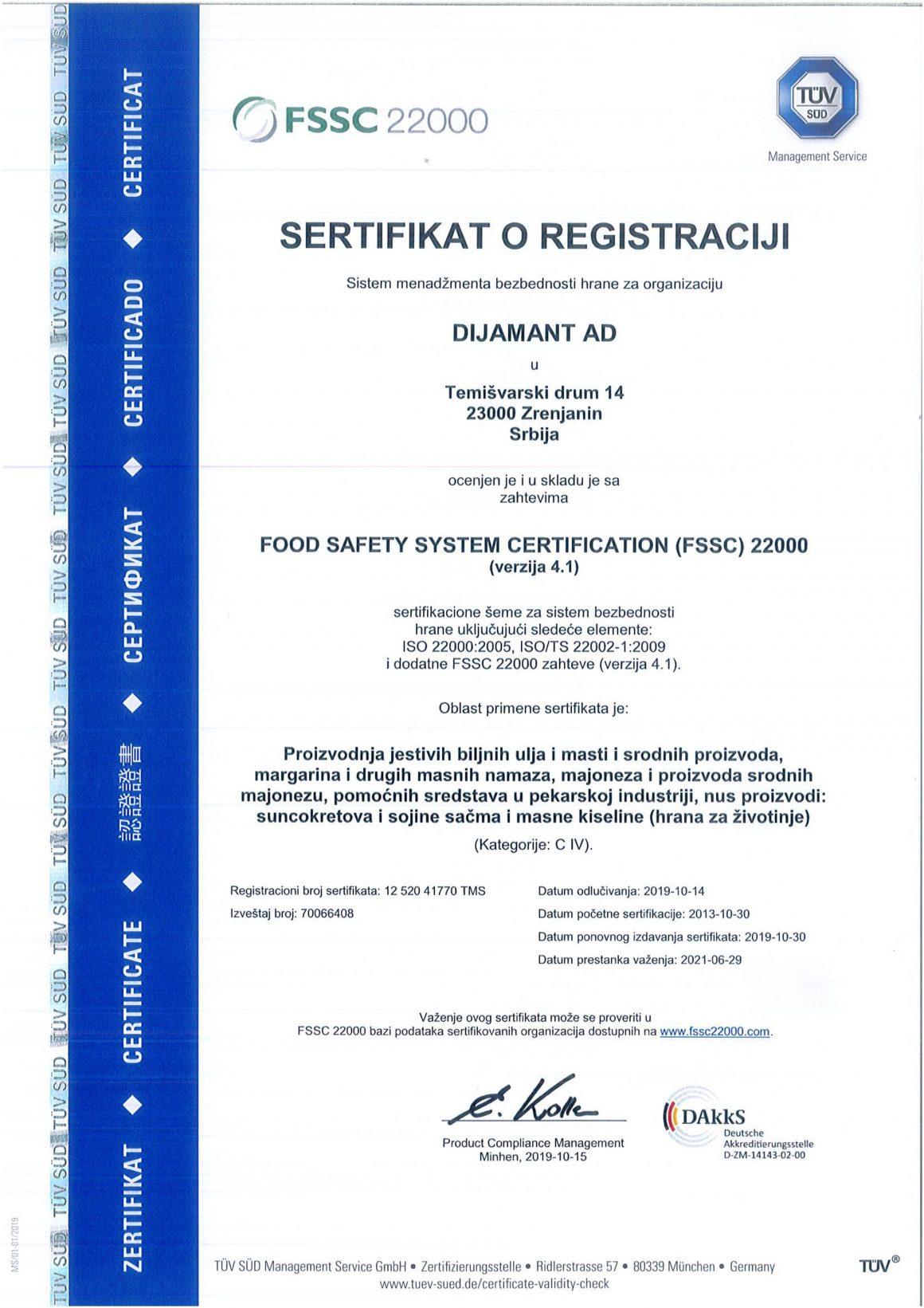 FSSC 22000 SRB 2019