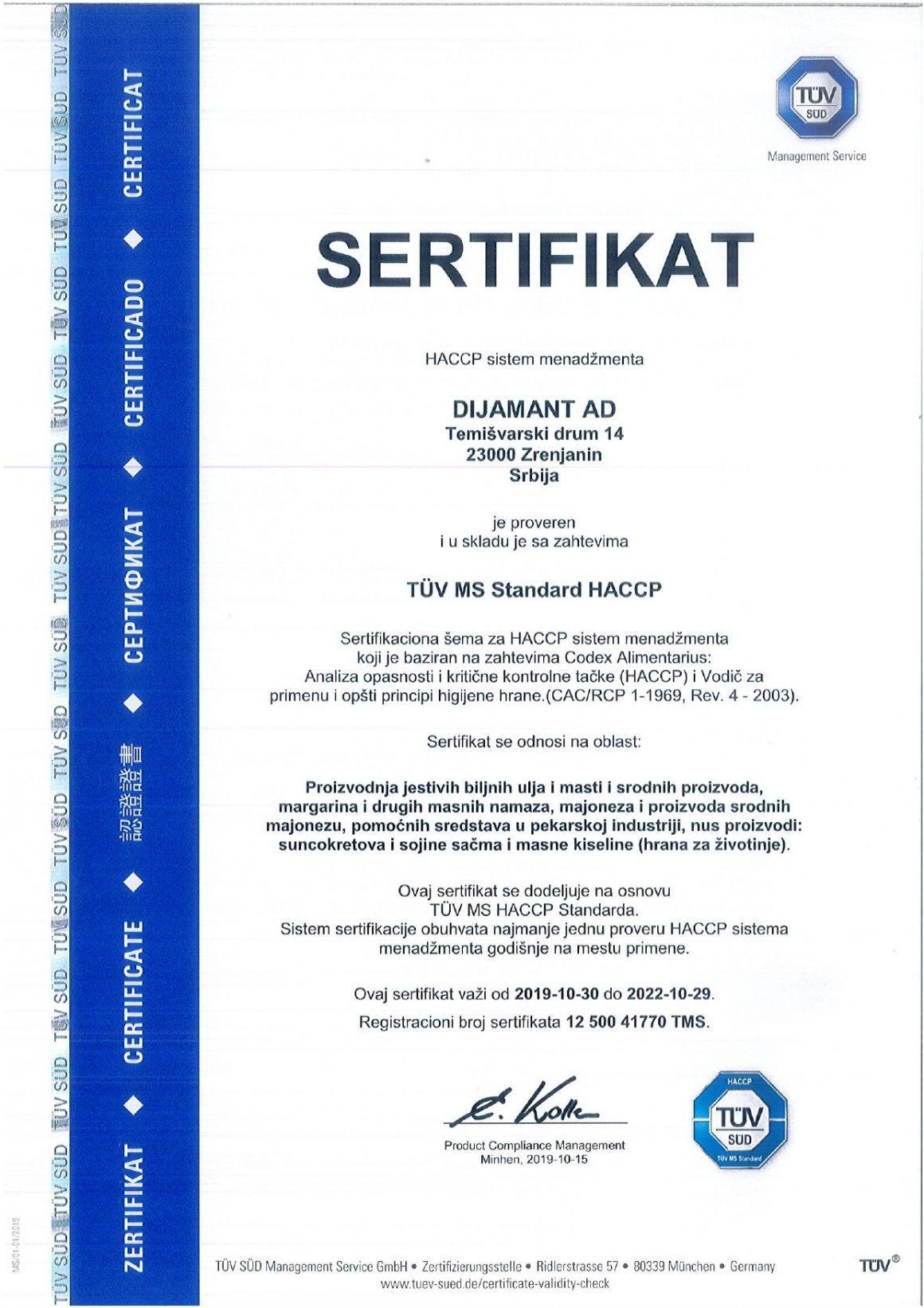 HACCP SRB 2019
