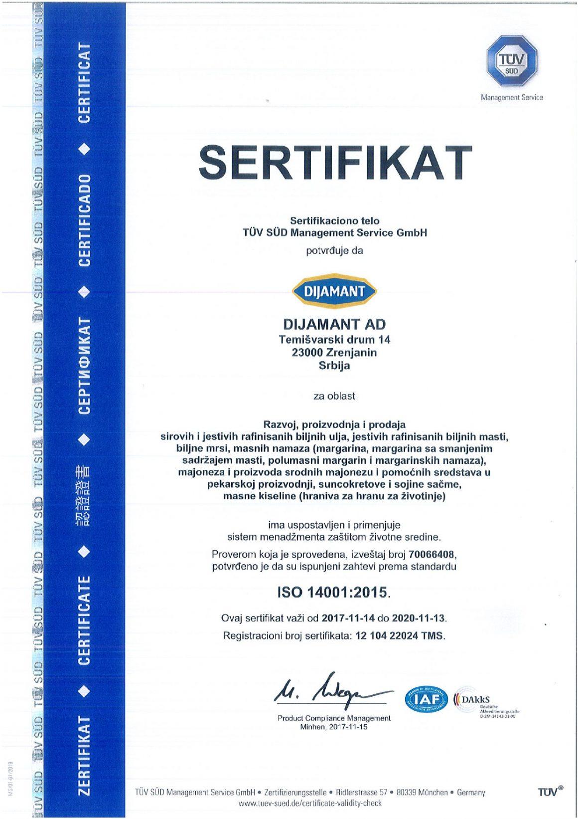 ISO 14001 srpski 2019