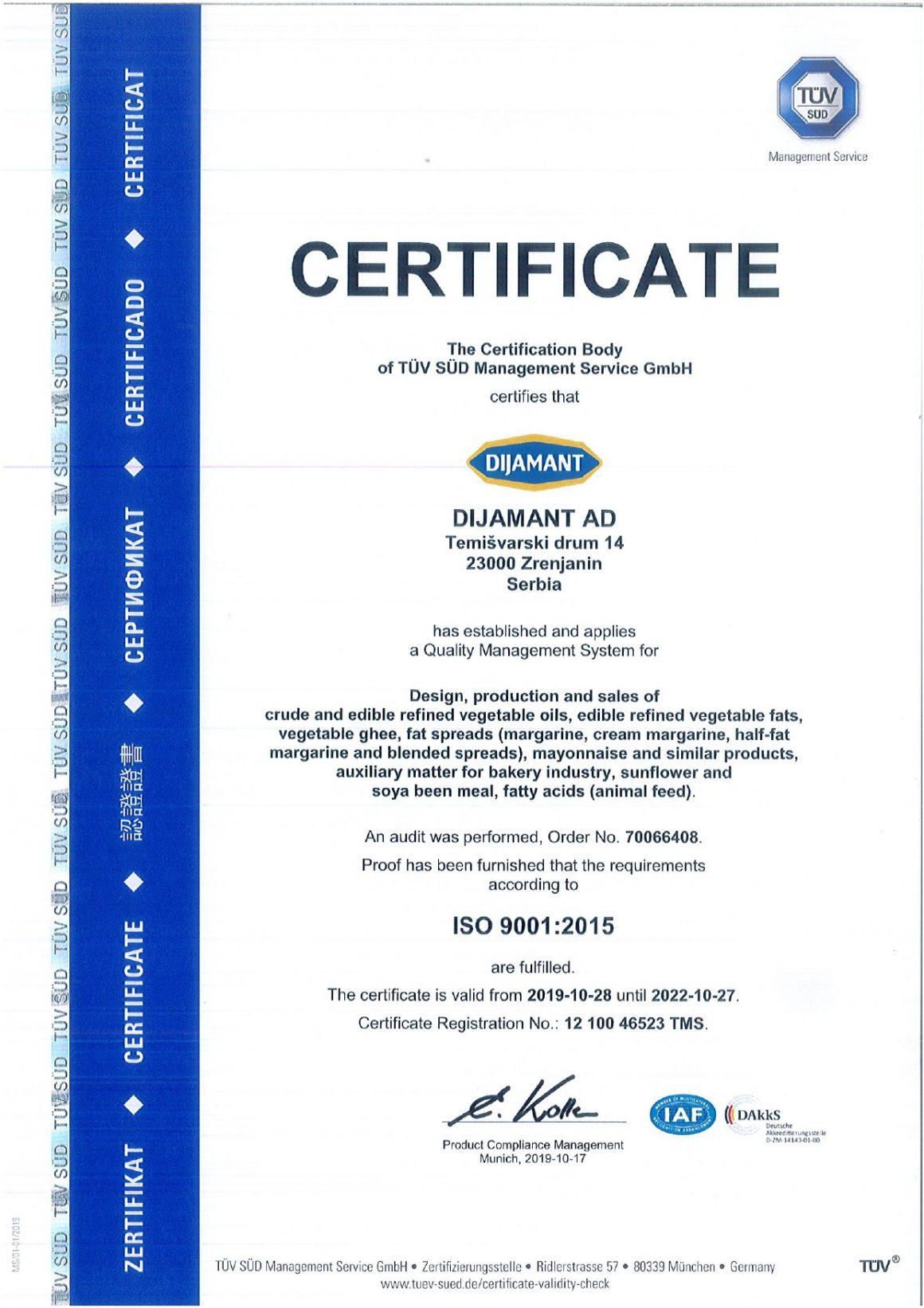 ISO 9001 engleski 2019