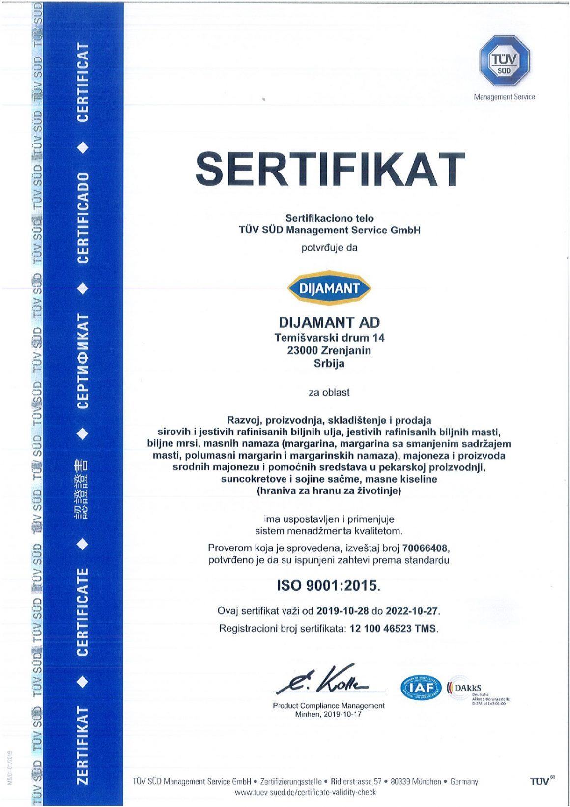 ISO 9001 srpski 2019