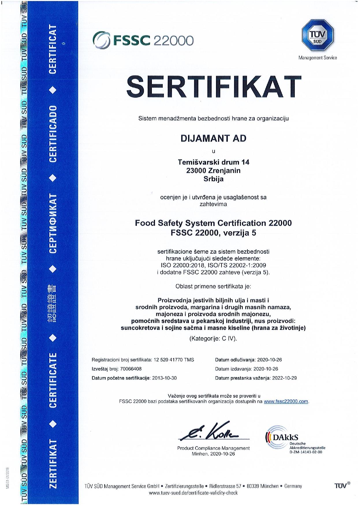 FSSC 22000 SRB 2020