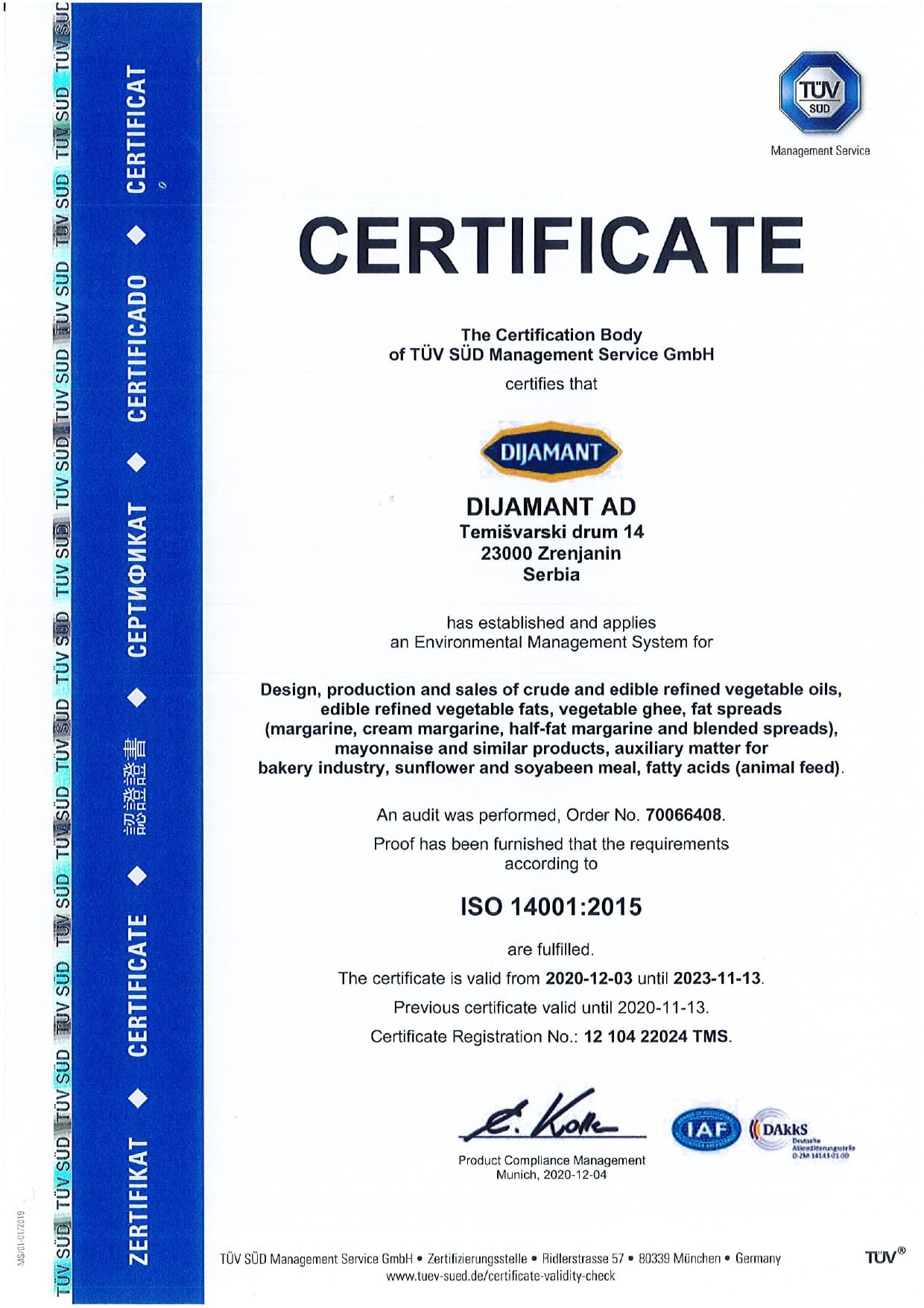 ISO 14001 engleski 2020