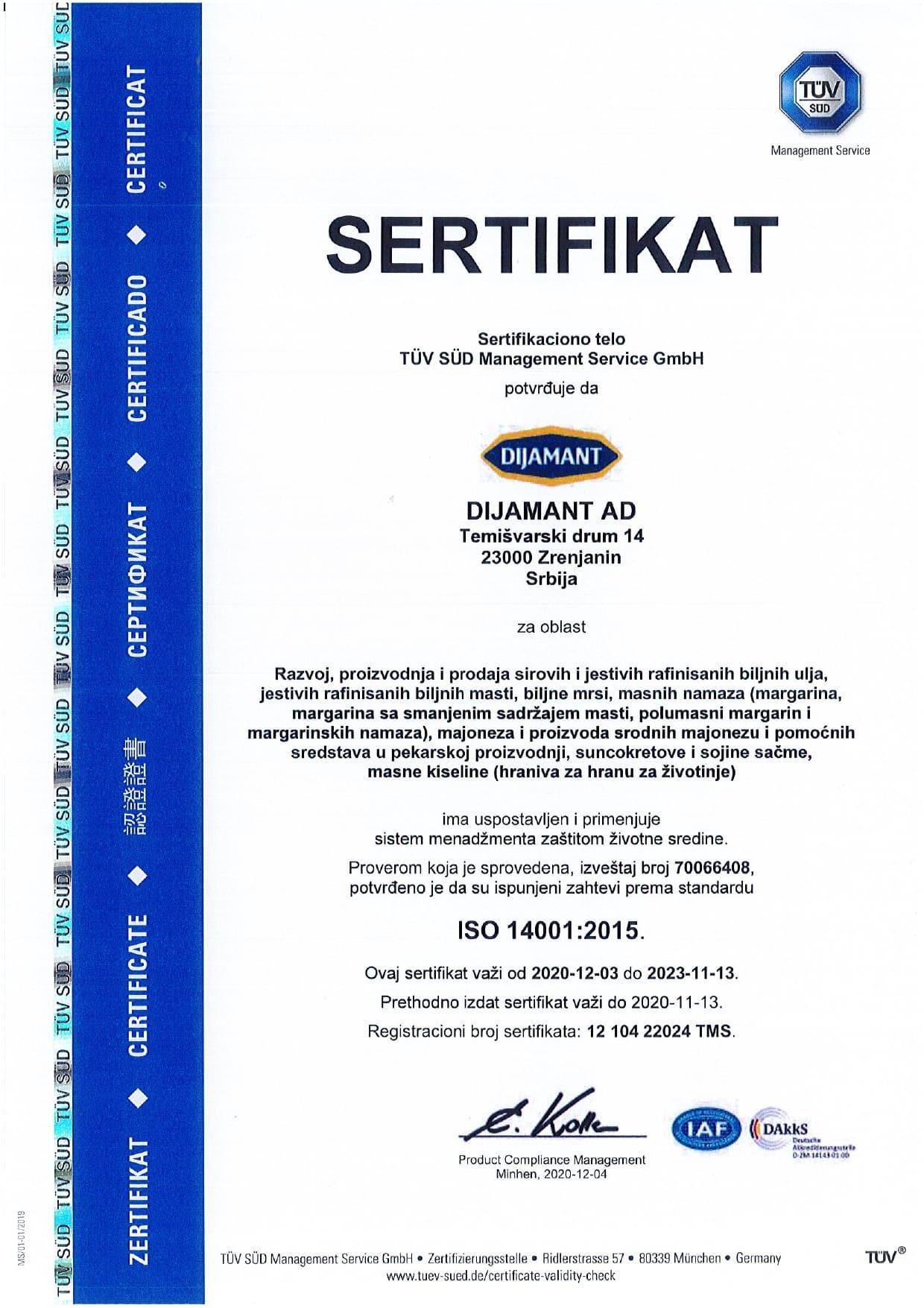 ISO 14001 srpski 2020