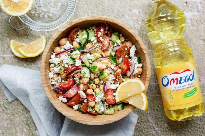 Mediteranska salata sa leblebijama
